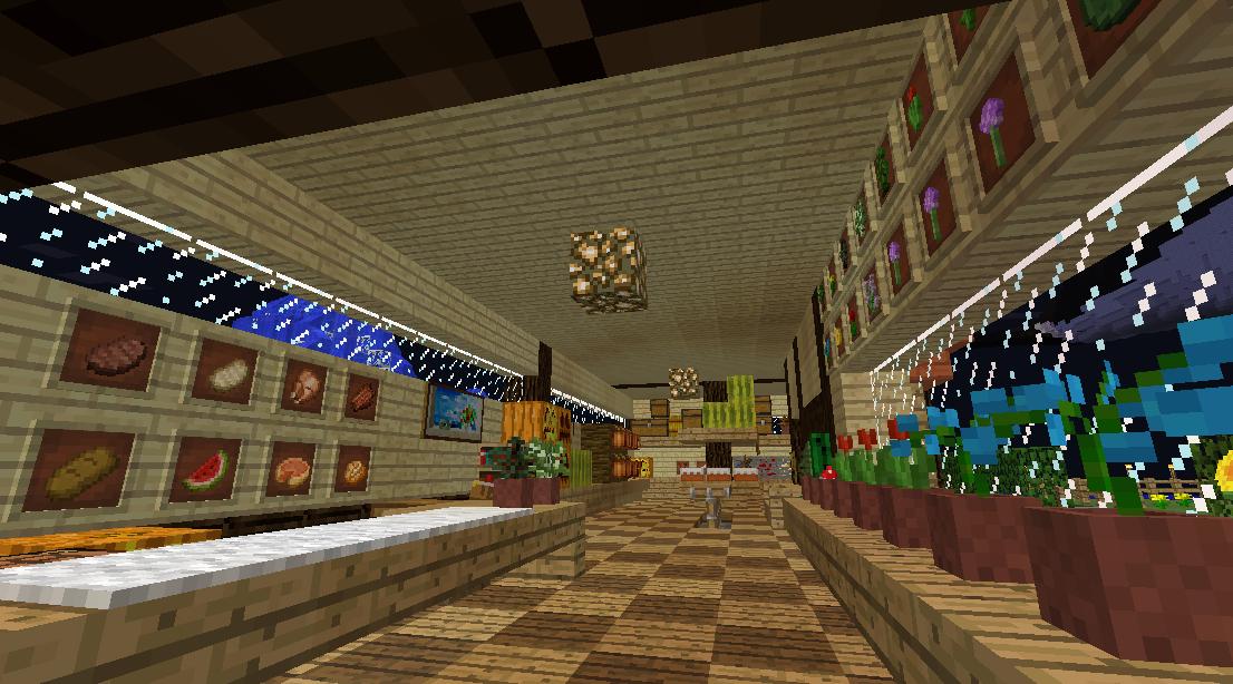 Minecrafterししゃもがマインクラフトでぷっこ村に土産物屋を建設する2