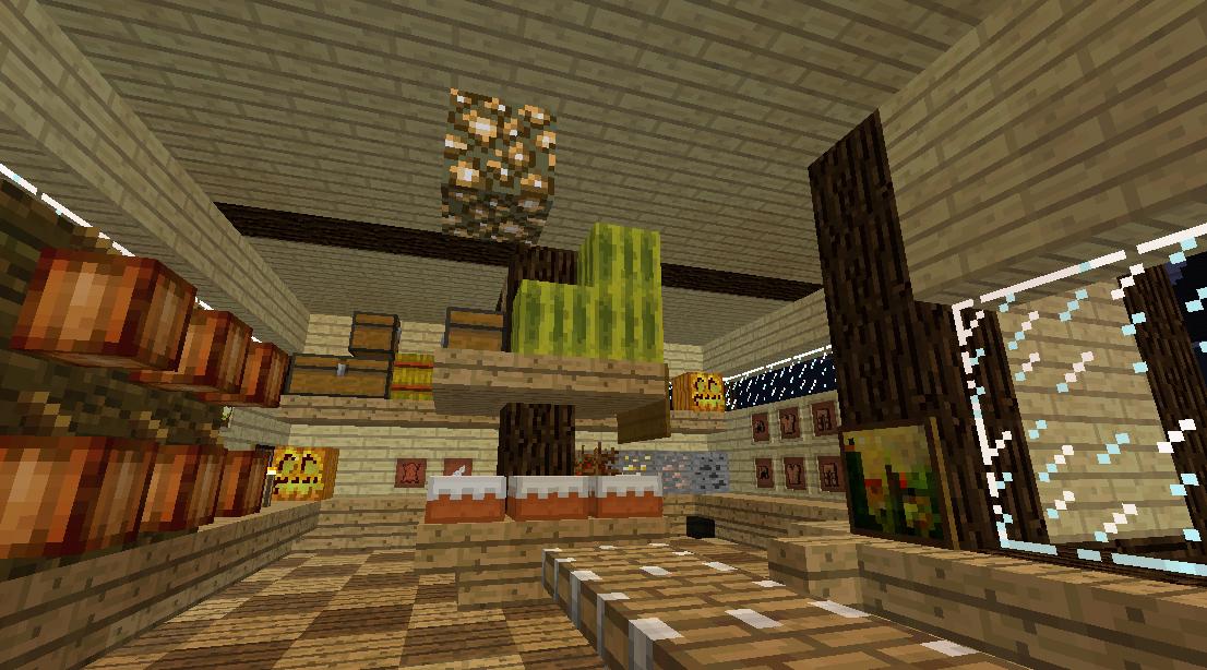 Minecrafterししゃもがマインクラフトでぷっこ村に土産物屋を建設する4