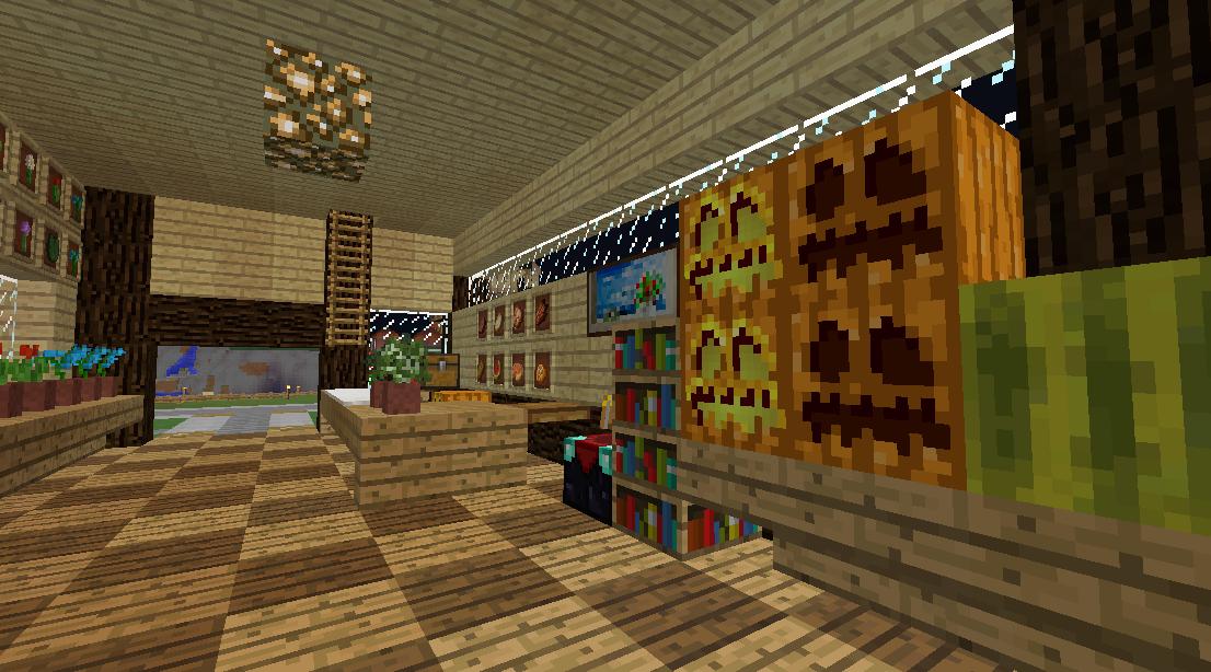 Minecrafterししゃもがマインクラフトでぷっこ村に土産物屋を建設する6