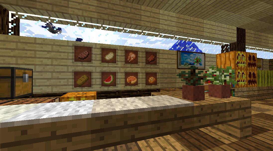 Minecrafterししゃもがマインクラフトでぷっこ村に土産物屋を建設する5