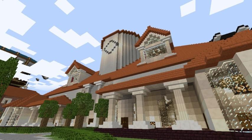 マインクラフトでオリジナルの議事堂建設3