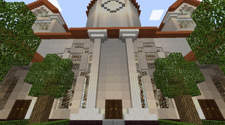 マインクラフトでオリジナルの議事堂建設4