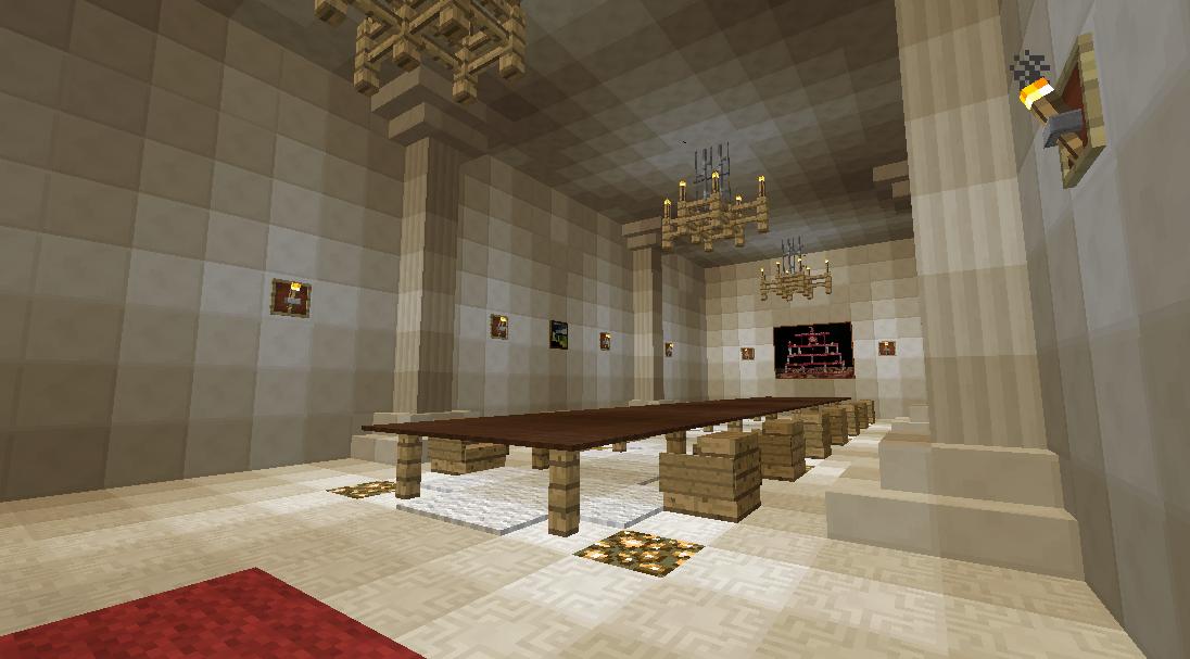 マインクラフトでオリジナルの議事堂建設5
