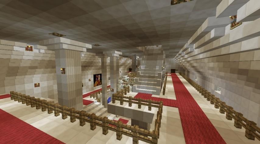 マインクラフトでオリジナルの議事堂建設9