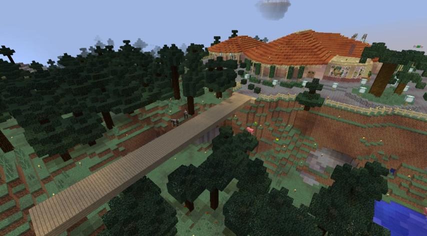 Minecrafterししゃもが、マインクラフトで旧リンガー邸をぷっこ村仕様でアレンジ再現する3