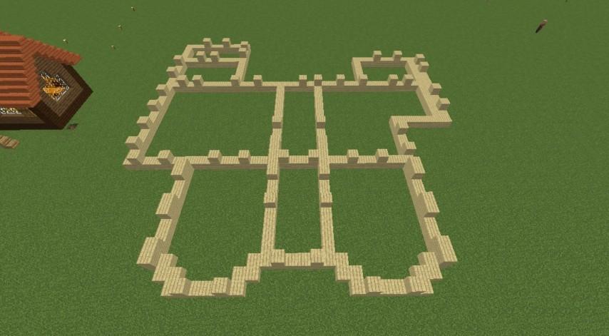 Minecrafterししゃもが、マインクラフトで旧リンガー邸をぷっこ村仕様でアレンジ再現する4