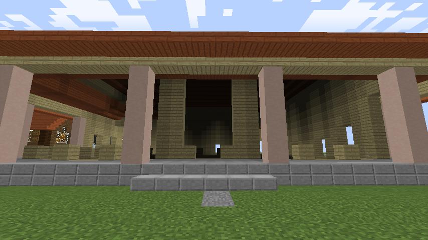 Minecrafterししゃもが、マインクラフトで旧リンガー邸をぷっこ村仕様でアレンジ再現する6