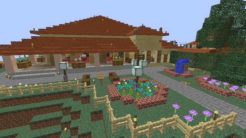 Minecrafterししゃもが、マインクラフトで旧リンガー邸をぷっこ村仕様でアレンジ再現する11