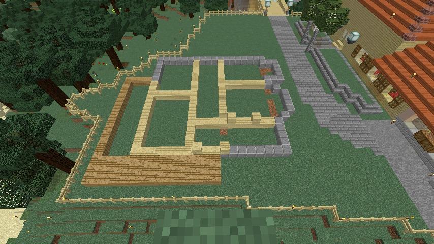 Minecrafterししゃもがマインクラフトで旧ウォーカー住宅をぷっこ村仕様でアレンジ再現する4
