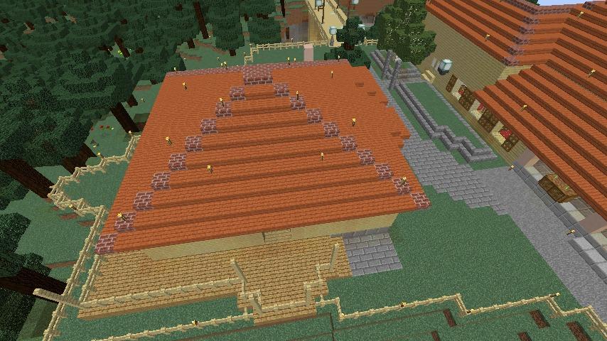 Minecrafterししゃもがマインクラフトで旧ウォーカー住宅をぷっこ村仕様でアレンジ再現する6