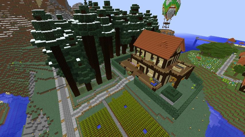 Minecrafterししゃもがマインクラフトでぷっこ村にブライト家を建設する1