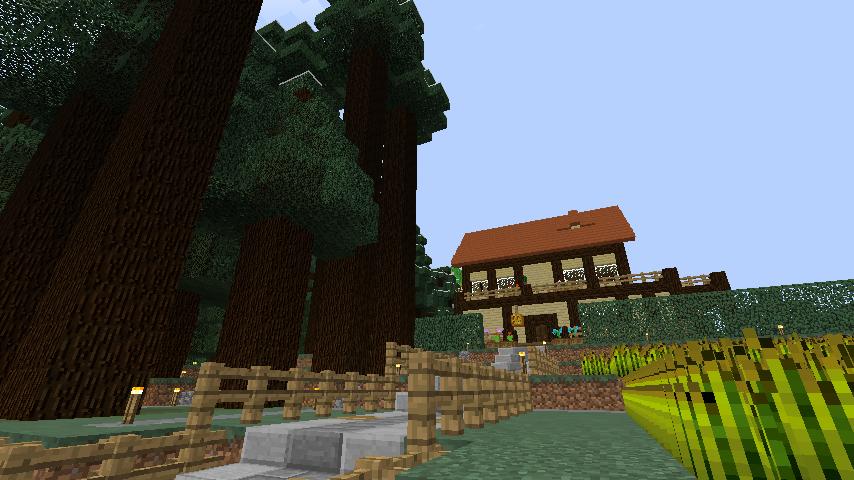 Minecrafterししゃもがマインクラフトでぷっこ村にブライト家を建設する2