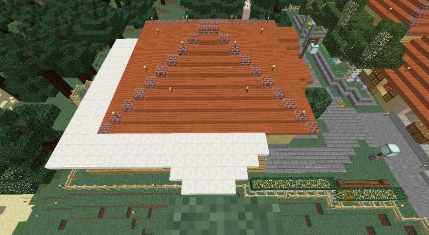 Minecrafterししゃもがマインクラフトで旧ウォーカー住宅をぷっこ村仕様でアレンジ再現する7