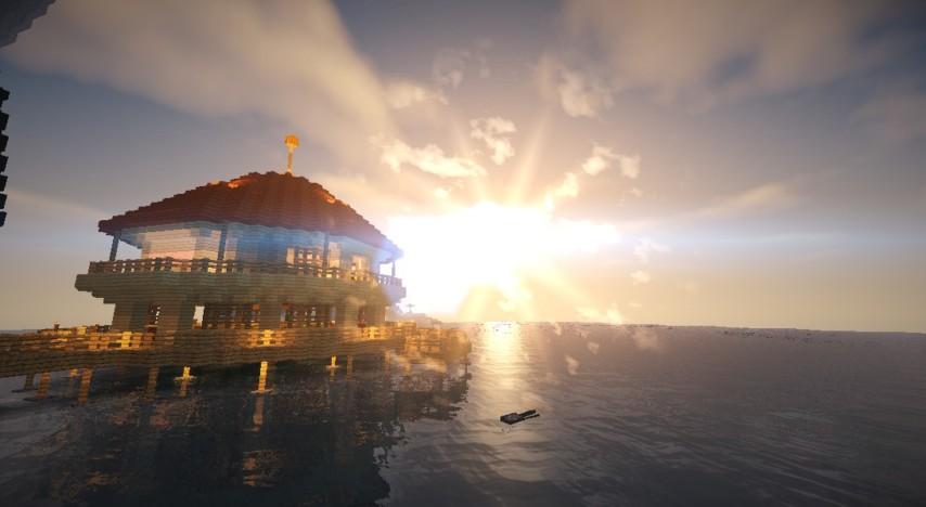 Minecrafterししゃもがマインクラフトでぷっこ村に酒場を建設する9