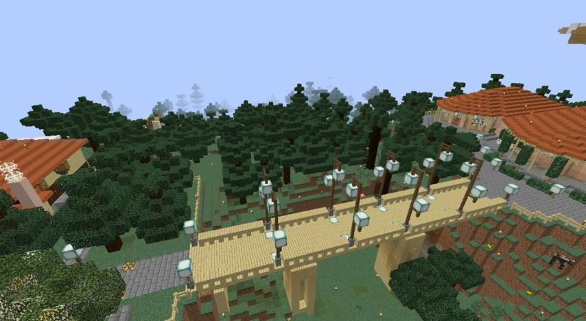 Minecrafterししゃもがマインクラフトでぷっこ村にスチイル記念学校をモデルにした学校を建設する2