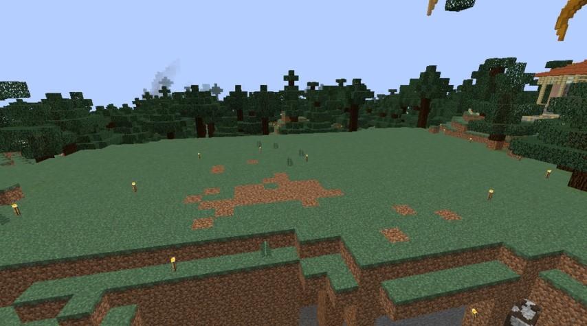 Minecrafterししゃもがマインクラフトでぷっこ村にスチイル記念学校をモデルにした学校を建設する3