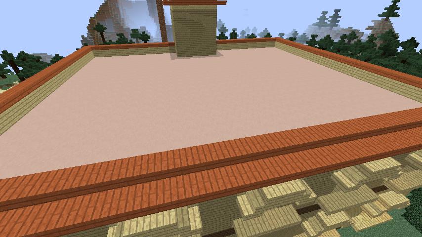 Minecrafterししゃもがマインクラフトでぷっこ村にスチイル記念学校をモデルにした学校を建設する5