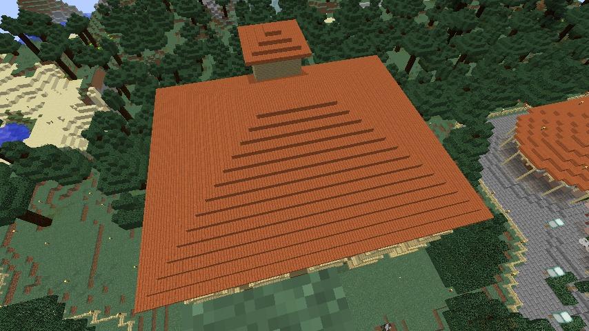 Minecrafterししゃもがマインクラフトでぷっこ村にスチイル記念学校をモデルにした学校を建設する6