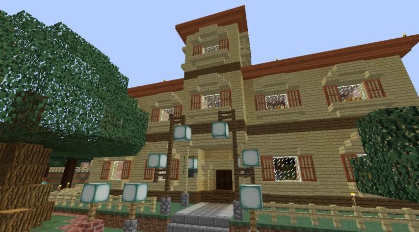 Minecrafterししゃもがマインクラフトでぷっっこ村に地図でポスターを作成して、茶番を演じる1