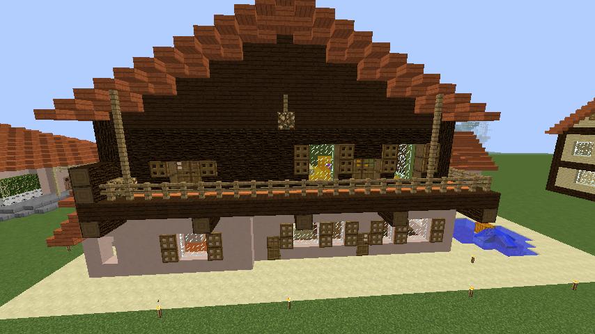 Minecrafterししゃもがマインクラフトで11代目右近権左衛門邸をぷっこ村仕様でアレンジ再現する10