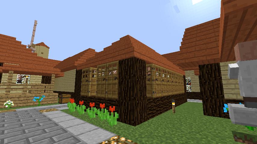 Minecrafterししゃもがマインクラフトでぷっこ村の居住地区を紹介する7