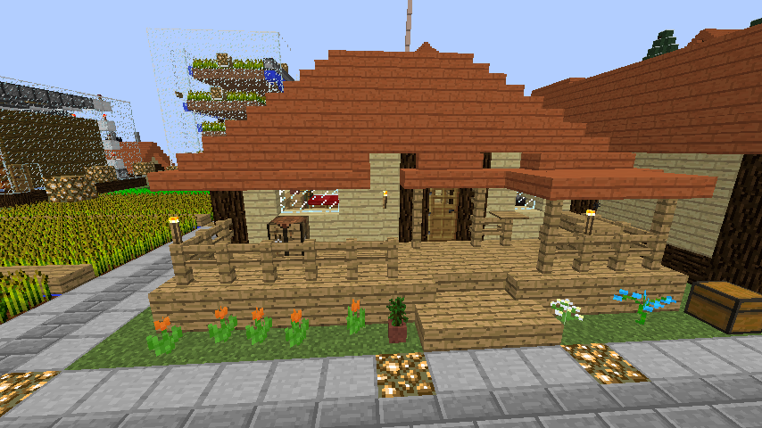 Minecrafterししゃもがマインクラフトでぷっこ村の居住地区を紹介する2