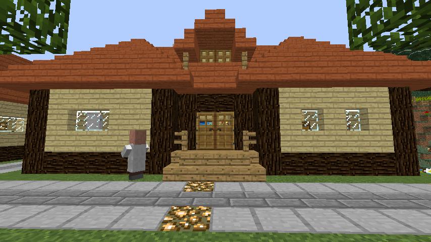 Minecrafterししゃもがマインクラフトでぷっこ村の居住地区を紹介する4