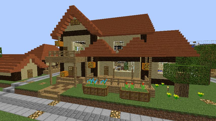 Minecrafterししゃもがマインクラフトでぷっこ村の居住地区を紹介する6