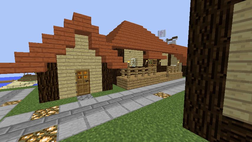 Minecrafterししゃもがマインクラフトでぷっこ村の居住地区を紹介する5