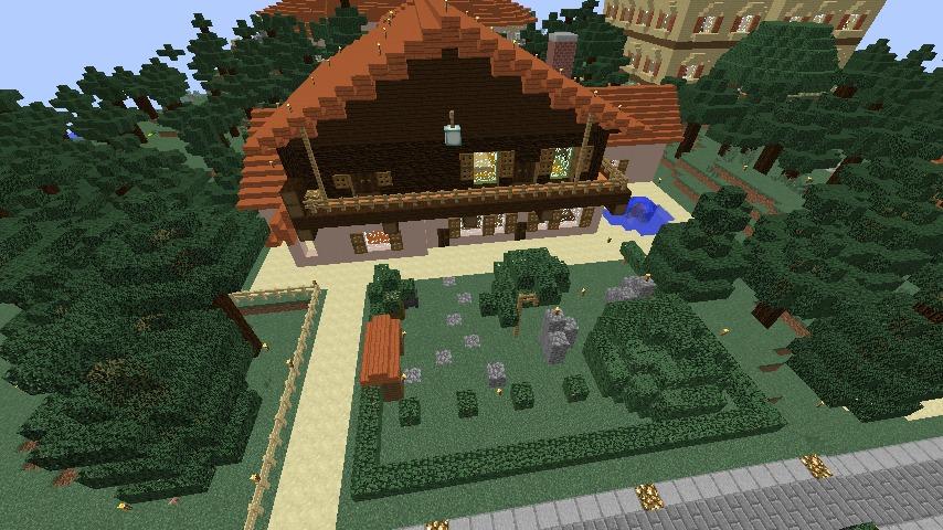 Minecrafterししゃもがマインクラフトで11代目右近権左衛門邸をぷっこ村仕様でアレンジ再現する13