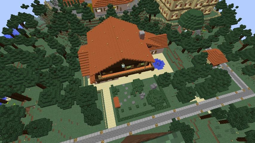 Minecrafterししゃもがマインクラフトで11代目右近権左衛門邸をぷっこ村仕様でアレンジ再現する12