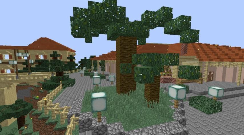 Minecrafterししゃもがマインクラフトでグラバー園内にある歴史的建造物の旧グラバー邸をぷっこ村仕様でアレンジ再現する3