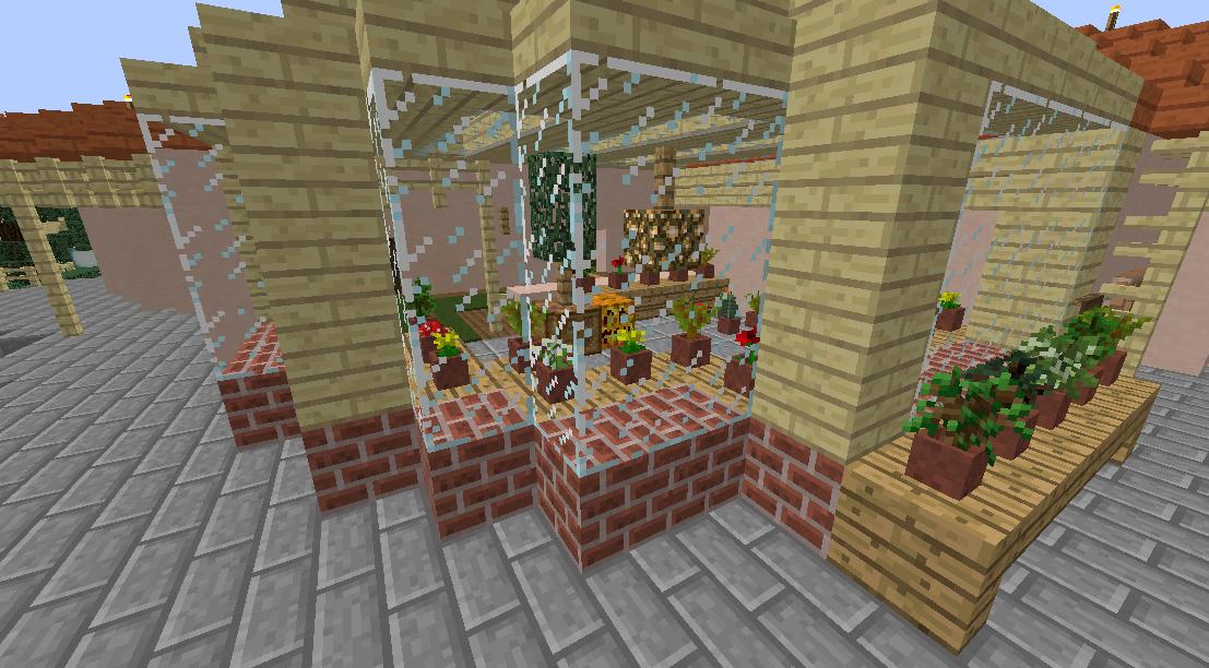 Minecrafterししゃもがマインクラフトでグラバー園内にある歴史的建造物の旧グラバー邸をぷっこ村仕様でアレンジ再現する2