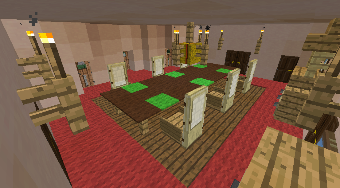 Minecrafterししゃもがマインクラフトでグラバー園内にある歴史的建造物の旧グラバー邸をぷっこ村仕様でアレンジ再現する8