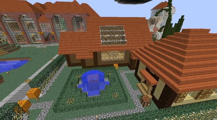 Minecrafterししゃもがマインクラフトでぷっこ村に歴史的建造物のつねのアトリエをアレンジ再現する3
