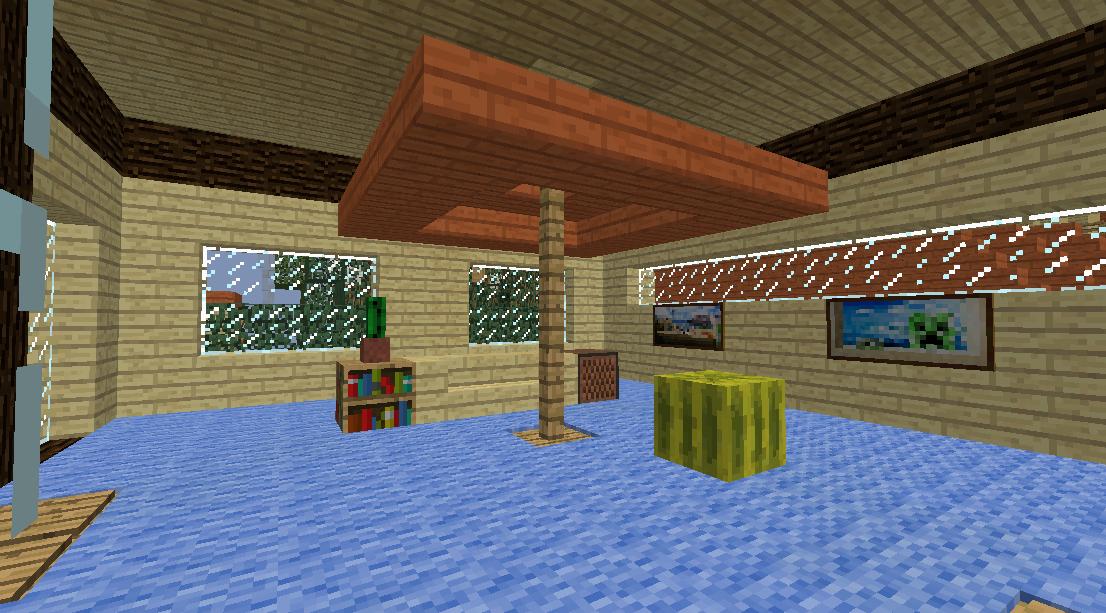 Minecrafterししゃもがマインクラフトでぷっこ村に観光名所の四季の館を建設する6