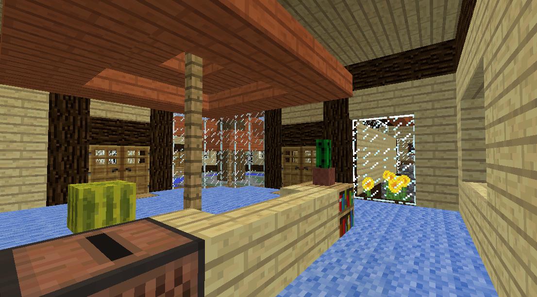 Minecrafterししゃもがマインクラフトでぷっこ村に観光名所の四季の館を建設する7