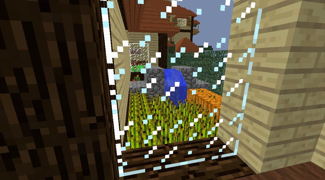 Minecrafterししゃもがマインクラフトでぷっこ村に観光名所の四季の館を建設する9