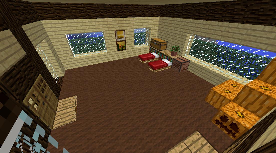 Minecrafterししゃもがマインクラフトでぷっこ村に観光名所の四季の館を建設する8