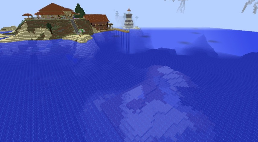 Minecrafterししゃもがマインクラフトでぷっこ村の公開の安全を願って灯台を建てる1