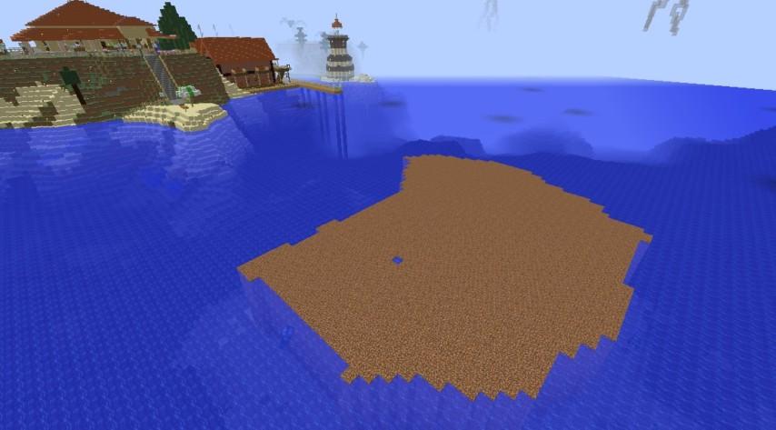 Minecrafterししゃもがマインクラフトでぷっこ村の公開の安全を願って灯台を建てる3