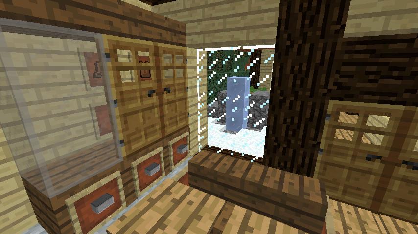Minecrafterししゃもがマインクラフトでぷっこ村に観光名所の四季の館を建設する11
