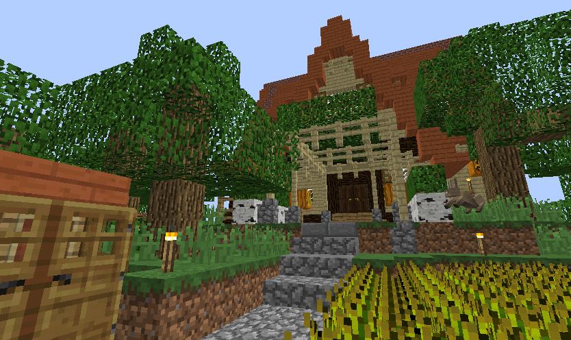 Minecrafterししゃもがマインクラフトでぷっこ村に小島の洋館を建設する2