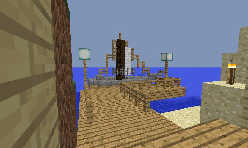 Minecrafterししゃもがマインクラフトでぷっこ村に小島の洋館を建設する9