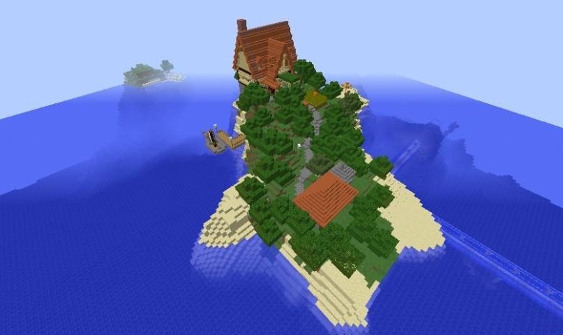 Minecrafterししゃもがマインクラフトでぷっこ村に小島の洋館を建設する1