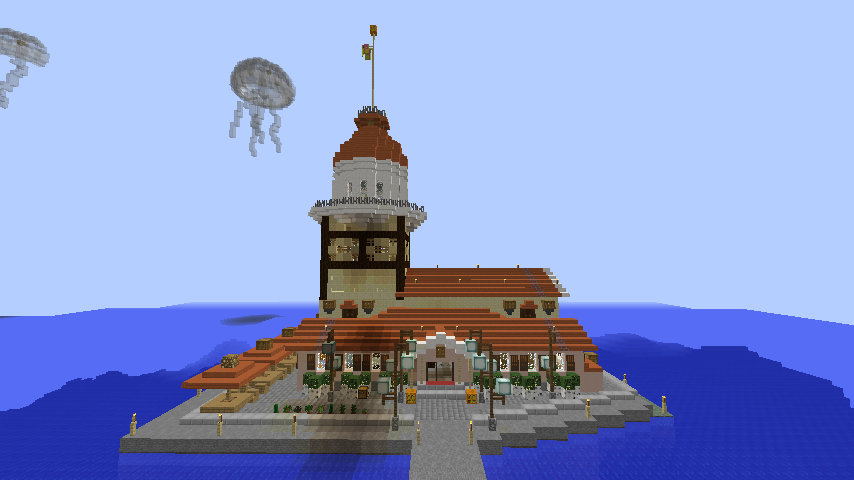 Minecrafterししゃもがマインクラフトでぷっこ村の公開の安全を願って灯台を建てる12