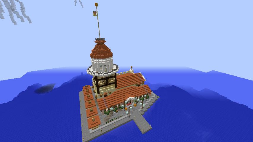Minecrafterししゃもがマインクラフトでぷっこ村の公開の安全を願って灯台を建てる11