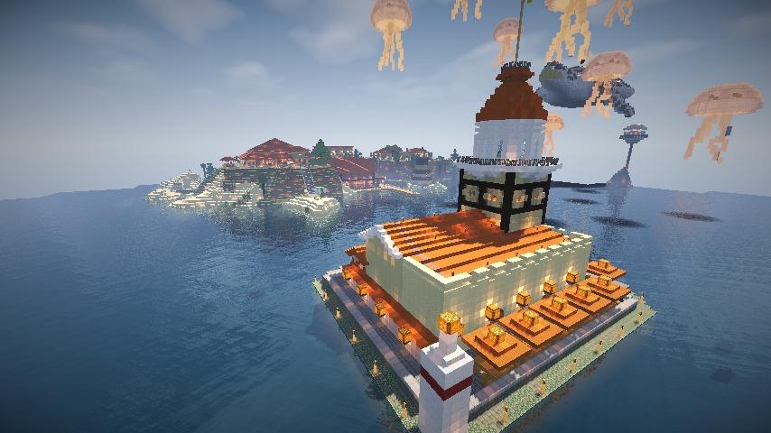 Minecrafterししゃもがマインクラフトでぷっこ村の公開の安全を願って灯台を建てる18