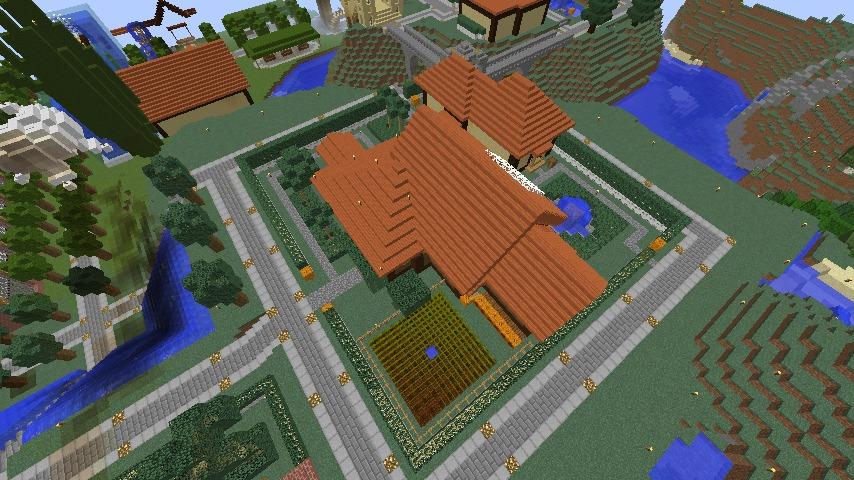 Minecrafterししゃもがマインクラフトでぷっこ村に歴史的建造物のつねのアトリエをアレンジ再現する1