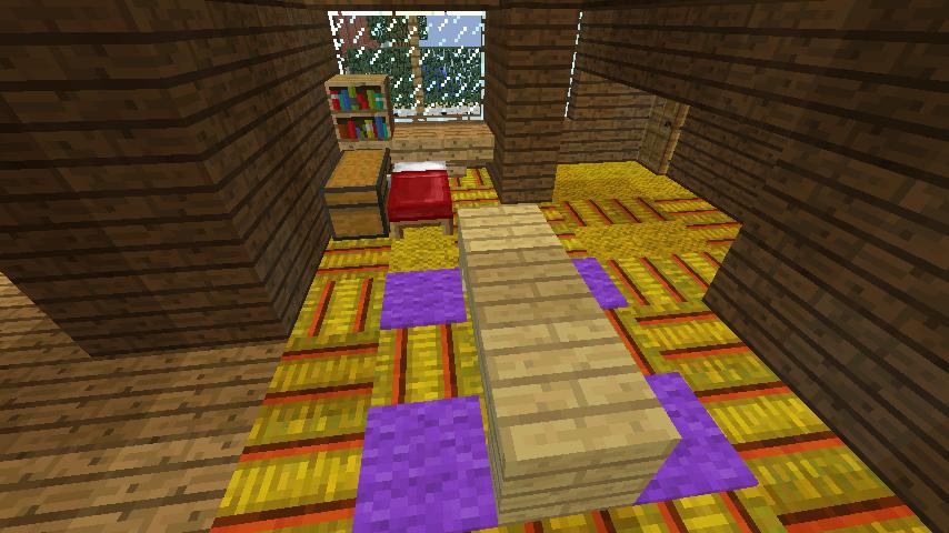 Minecrafterししゃもがマインクラフトでぷっこ村に歴史的建造物のつねのアトリエをアレンジ再現する5
